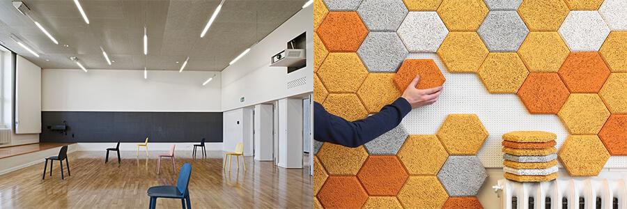 Ahşap yünü tavan ve duvar ses yalıtım uygulamalarında kullanılır.Heraklite ahşap yünü çoğunlukla inşaat sektöründe kullanılır.