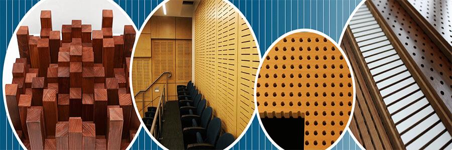 Akustik ahşap paneller, yankı ve yansıtıcı panel olmakla beraber delikli, derzli modelleri mevcuttur. Kapalı ortamlarda gürültüyü soğuran ya da yansıtan ve akustik düzenlemeye yardım eden kaliteli ses duyumu sağlayan ahşap panellerdir.