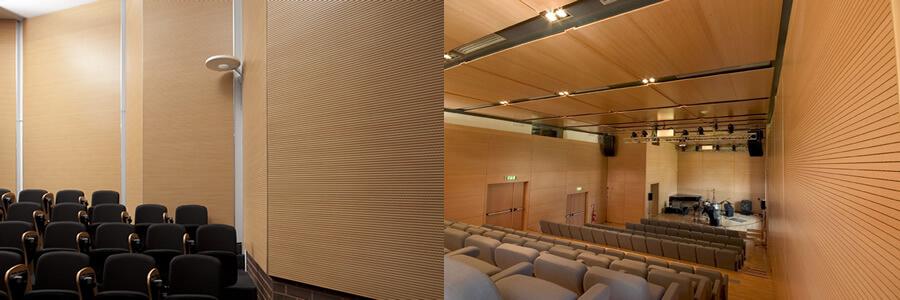 Ortamın akustiğini sağlar ve ortama dekoratif şık bir görüntü verir. Derzli ahşap panellerinin içinde Soundtex marka bez sayesinde ses yutma özelliği yüksek bir üründür.