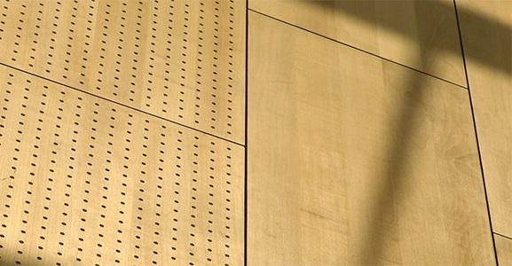 Akustik ahşap paneller, yankı ve yansıtıcı panel olmakla beraber delikli, derzli modelleri mevcuttur.Kapalı ortamlarda gürültüyü soğuran ya da yansıtan ve akustik düzenlemeye yardım eden kaliteli ses duyumu sağlayan ahşap panellerdir.